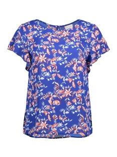 Vila T-shirt VILUCY S/S FLOUNCE TOP - LUX 14045883 Surf the web/TULIANA
