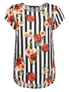 Vero Moda T-shirt VMBOCA SS BLOUSE MULTI PRINTED 10132802 Snow White/STRIPE