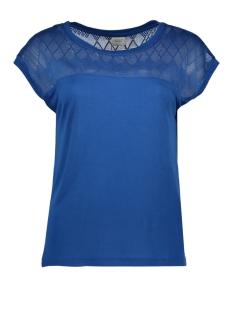Jacqueline de Yong T-shirt JDYRENEE S/S LACE TOP JRS 15163551 Classic Blue