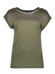 Jacqueline de Yong T-shirt JDYRENEE S/S LACE TOP JRS 15163551 Kalamata