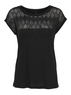 Jacqueline de Yong T-shirt JDYRENEE S/S LACE TOP JRS 15163551 Black
