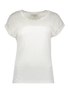Jacqueline de Yong T-shirt JDYRENEE S/S LACE TOP JRS 15163551 Cloud Dancer