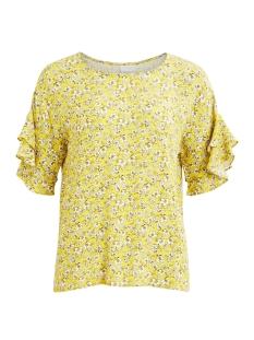 Vila T-shirt VISIGRID S/S TOP /RX 14049106 Buttercup/FLOWER PRINT