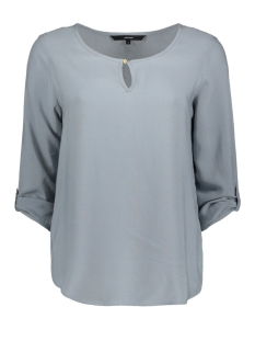 Vero Moda Blouse VMBUCI 3/4 FOLD-UP TOP NOOS 10179584 Tradewinds