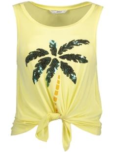 Only Top onlARLI KNOT TANK BOX JRS 15157555 Yellow Pear/Palm Tree