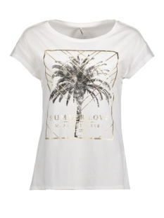 Only T-shirt onlGOLDIE S/S BLING TOP BOX JRS 15157888 Bright White/SUMMER