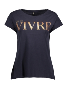 Only T-shirt onlGOLDIE S/S BLING TOP BOX JRS 15157888 Night Sky/Vivre