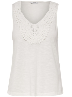 Only Top onlISA S/L CROCHET TANK TOP JRS 15157559 Cloud Dancer