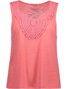 Only Top onlISA S/L CROCHET TANK TOP JRS 15157559 Sunkist Coral