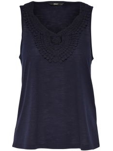 Only Top onlISA S/L CROCHET TANK TOP JRS 15157559 Night Sky