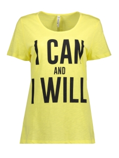 Zoso T-shirt I CAN YELLOW/NAVY