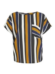 Object T-shirt OBJTESS KAREN S/S TOP 98 23027226 Buckthorn Brown