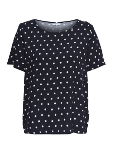 Jacqueline de Yong T-shirt JDYVICTORY  S/S TOP WVN 15150303 Sky Captain/Cloud Dancer
