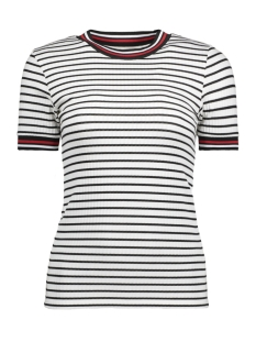 Only T-shirt onlLOU S/S STRIPE TOP JRS 15166628 White Stripes/BLACK STRIPE
