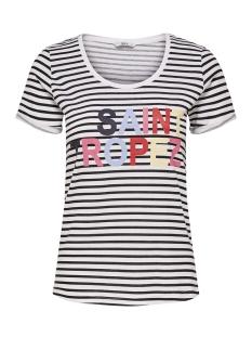 Only T-shirt onlVIOLA TES S/S T-SHIRT JRS 15162763 White/BLACK