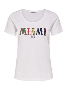 Only T-shirt onlVIOLA TES S/S T-SHIRT JRS 15162763 White/MIAMI