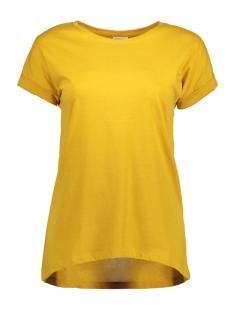Jacqueline de Yong T-shirt JDYLOUISA S/S FOLD UP TOP JRS NOOS 15157925 Golden Spice