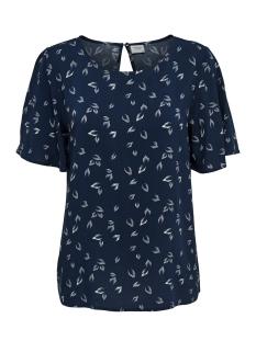Jacqueline de Yong T-shirt JDYDITTE S/S TOP WVN 15160250 Navy Blazer/Cloud Dancer
