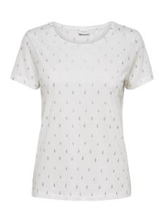 Jacqueline de Yong T-shirt JDYYRSA S/S TOP  JRS EXP 15145128 Cloud Dancer/SILVER DRO