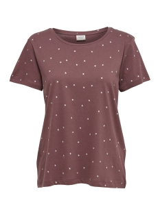 Jacqueline de Yong T-shirt JDYYRSA S/S TOP  JRS EXP 15145128 Wild Ginger/SILVER STARS