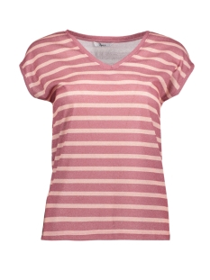 Only T-shirt onlSILVERY S/S V NECK AOP  TOP BOX 15157075 Rose Dawn/ROSE SMOKE