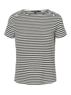 Vero Moda T-shirt VMJANY SONIA SS TOP GA 10199419 Black Stripes/SNOW WHITE