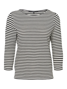Vero Moda T-shirt VMJANY SONIA 3/4 TOP GA 10199418 Black /SNOW WHITE