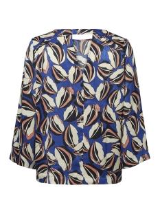 Vero Moda T-shirt VMRAJA 3/4 TOP 10199982 Mazarine Blue/COMB