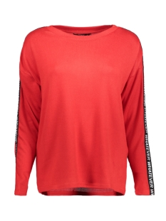 Only T-shirt onlELCOS STATE L/S TOP JRS 15168577 High Risk Red/SOLID