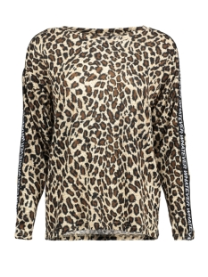 Only T-shirt onlELCOS STATE L/S TOP JRS 15168577 Pumice Stone/LEO
