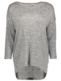 Only T-shirt onlMELIA 3/4 TOP JRS NOOS 15161622 Light Grey Melange/SILVER STARS
