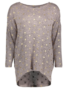 Only T-shirt onlMELIA 3/4 TOP JRS NOOS 15161622 Rose Smoke/GOLD DOTS