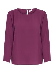 Jacqueline de Yong T-shirt JDYEDWIND 7/8 PLAIN TOP WVN FS 15169622 Red Plum