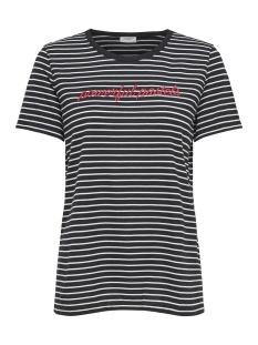 Jacqueline de Yong T-shirt JDYTOLLA S/S EMB TOP JRS 15158047 Cloud Dancer/BLACK