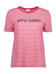 Jacqueline de Yong T-shirt JDYTOLLA S/S EMB TOP JRS 15158047 Love Potion/CLOUD DANCER