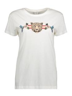 Jacqueline de Yong T-shirt JDYDONA S/S PRINT TOP JRS EXP 15164936 Cloud Dancer/LEO AND HU