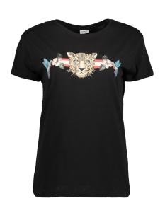 Jacqueline de Yong T-shirt JDYDONA S/S PRINT TOP JRS EXP 15164936 Black/LEO AND HU