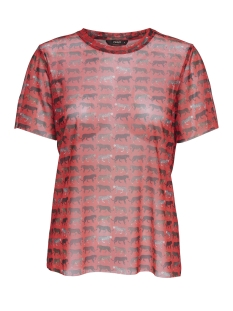 Only T-shirt onlTIGER MESH S/S TOP JRS 15169259 High Risk Red/TIGERS
