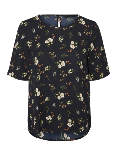 Vero Moda T-shirt VMNYNNE 2/4 TOP 10199864 Black/BLACK FLOWER