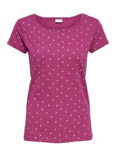 Jacqueline de Yong T-shirt JDYSURI S/S GLITTER AOP TOP JRS 15157469 Vivacious/SILVER GLITTER