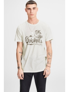 jorhero tee ss crew neck 12121150 jack & jones t-shirt cloud dancer/slim