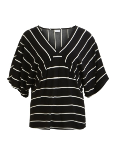 Vila T-shirt VIBECCA MOTIA 2/4 TOP/TB 14047285 Black/CLOUD DANCER