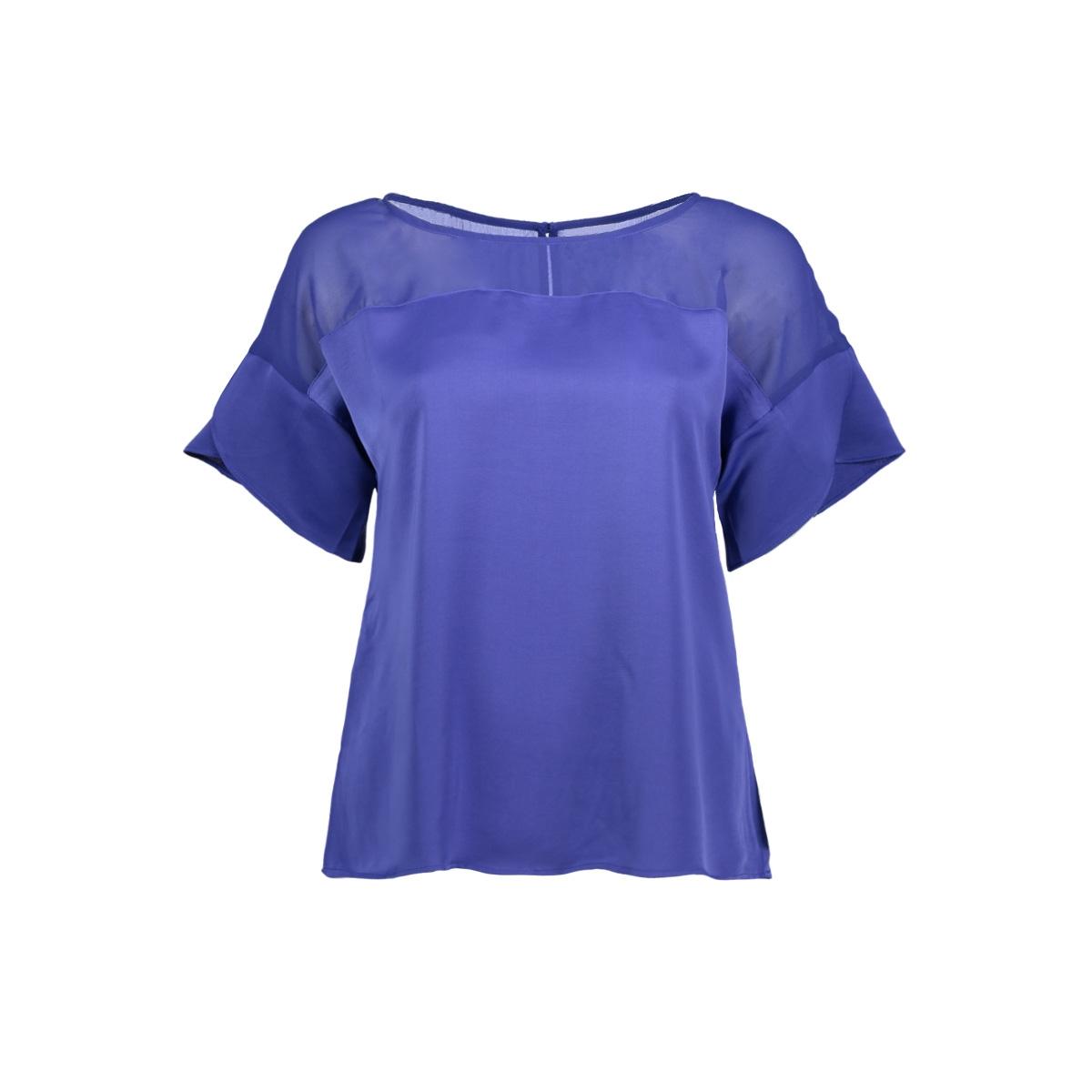 vicause s/s flounce top 14048667 vila t-shirt clematis blue