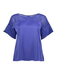 Vila T-shirt VICAUSE S/S FLOUNCE TOP 14048667 Clematis Blue