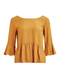 Vila T-shirt VIMALINA 3/4 TOP 14049445 Cathay Spice/GOLD STRIPE