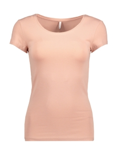 Only T-shirt onlLIVE LOVE NEW SS O-NECK TOP NOOS 15132306 Misty Rose