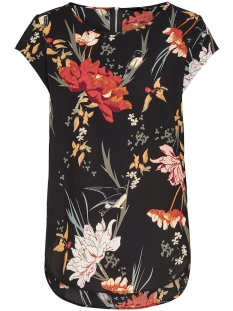 onlvic ss aop top noos wvn 15161116 only t-shirt black/flower aop