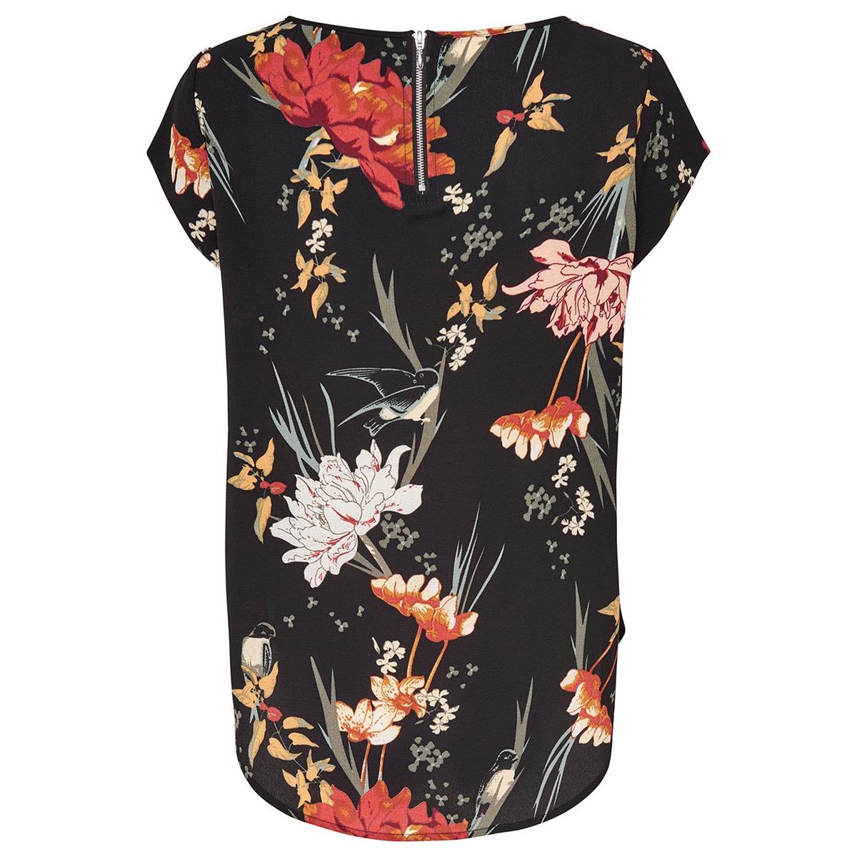onlvic ss aop top noos wvn 15161116 only t-shirt black/flower aop