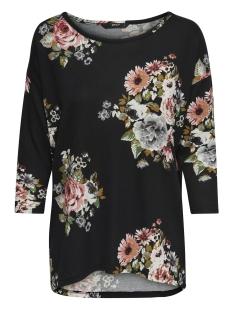 onlelcos 4/5 aop top jrs noos 15144286 only t-shirt black/black flower