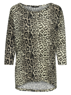 Only T-shirt onlELCOS 4/5 AOP TOP JRS NOOS 15144286 Pumice Stone/LEO PRINT